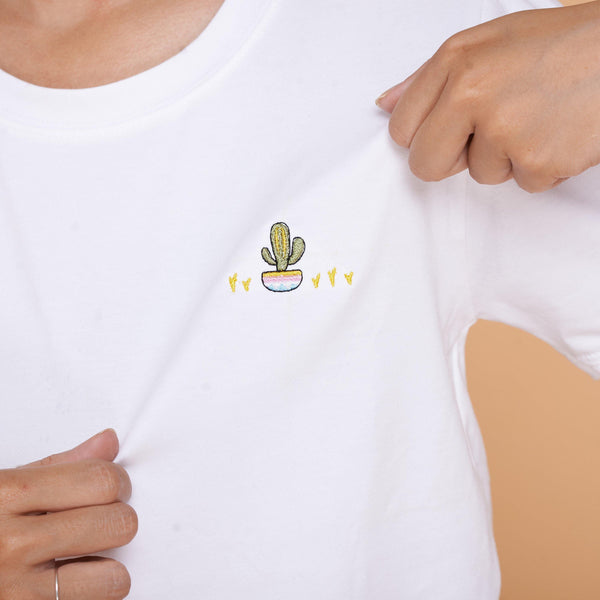Cactus Embroidered T-Shirt - shop3xu