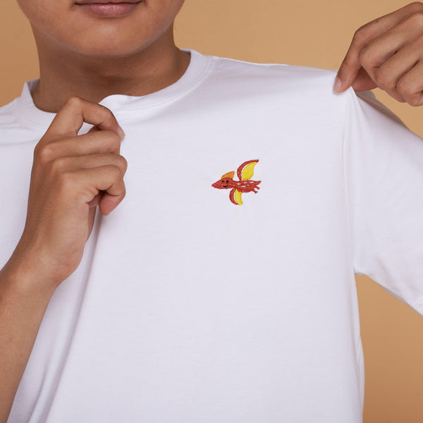 Pterosaurus Dinosaur Embroidered T-Shirt