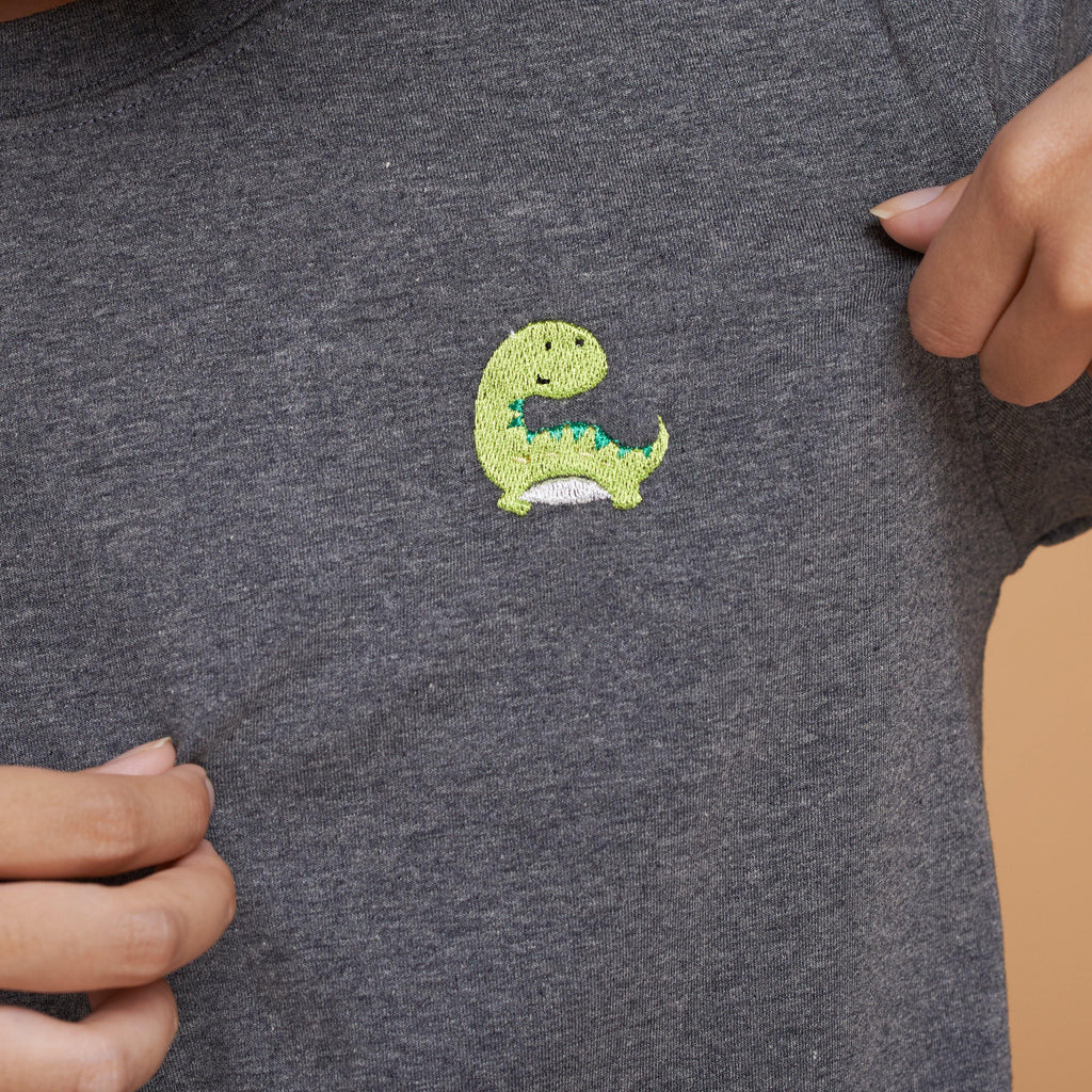 Brachiosaurus Dinosaur Embroidered T-Shirt