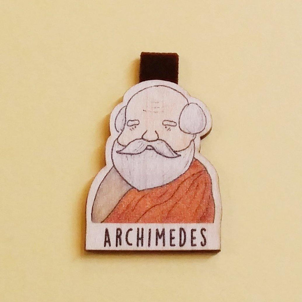 Archimedes Magnetic Wooden Bookmark - BO002