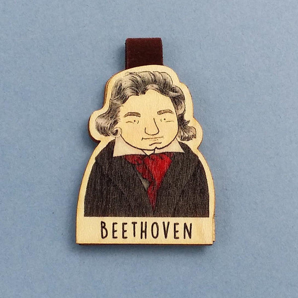 Beethoven Magnetic Wooden Bookmark - BO003 - shop3xu
