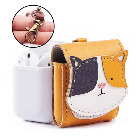 Cat Leather Airpod Case - AP024