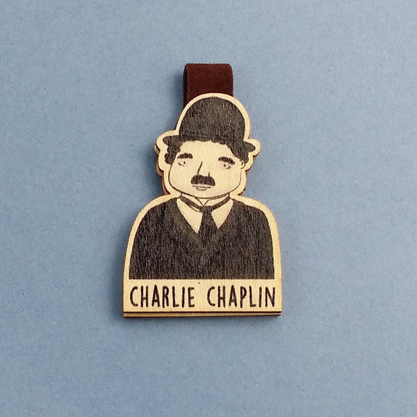 Charlie Chaplin Magnetic Wooden Bookmark - BO004 - shop3xu