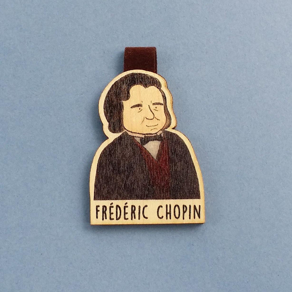 Frédéric Chopin Magnetic Wooden Bookmark - BO005