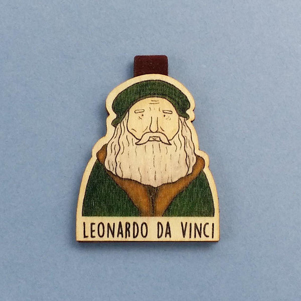 Leonarda Da Vinci Magnetic Wooden Bookmark - BO010