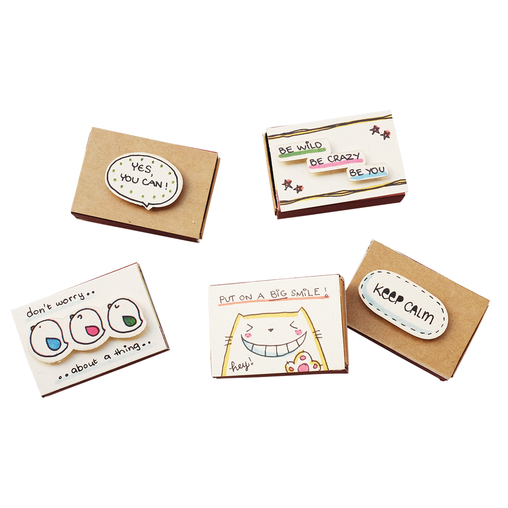 SE010 - Set of 5 General Matchboxes - ALL Occasion Matchbox-Card Set