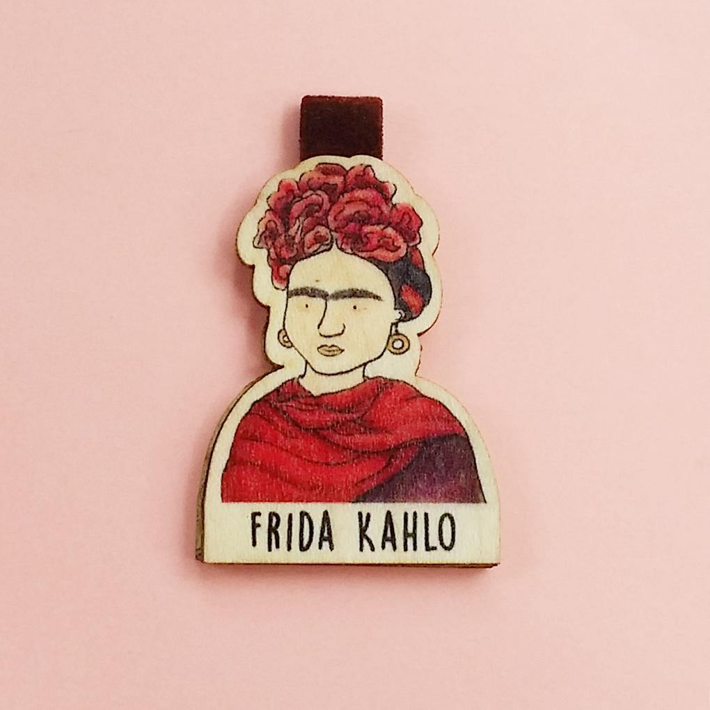 Frida Kahlo Magnetic Wooden Bookmark - BO006
