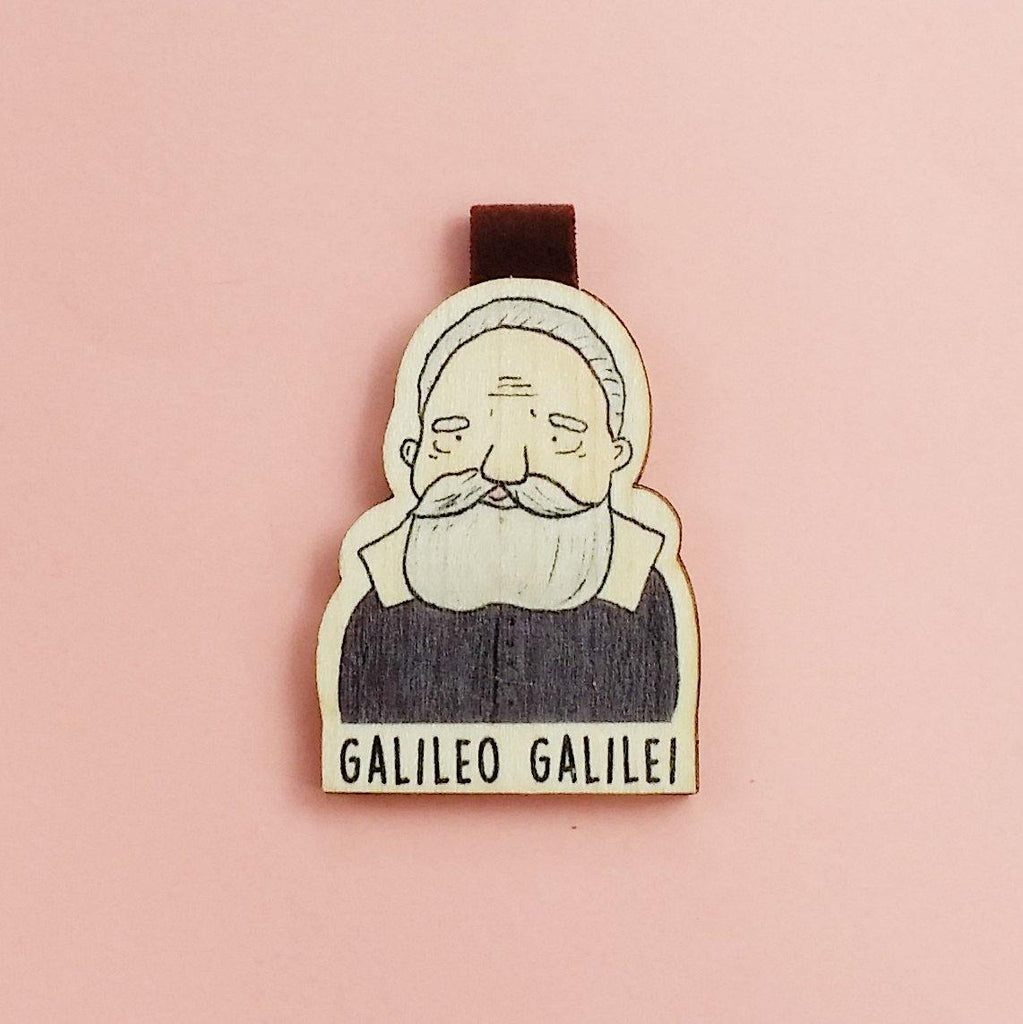 Galileo Galileo Magnetic Wooden Bookmark - BO007