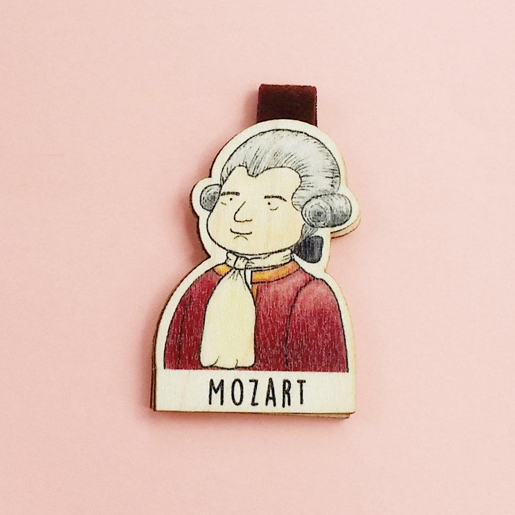 Mozart Magnetic Wooden Bookmark - BO012