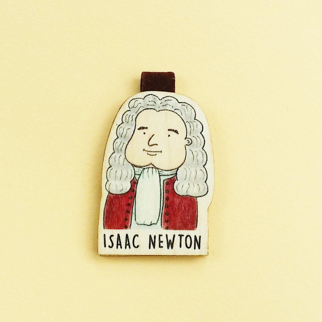 Isaac Newton Magnetic Wooden Bookmark - BO009