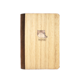 PC026 - Handmade Wooden Passport Cover - Munchkin Cat