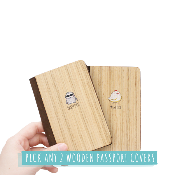 SE004 - Pick any 2 Wooden Passport Covers