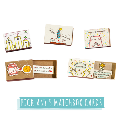 SE006 - Pick any 5 Matchbox Cards for Any Occasion