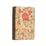 PC010 - Flower Wooden Passport Cover - Vintage Floral Red Travel Case