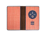 PC020 - Handmade Wooden Passport Cover - Red Stripe Anchor