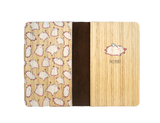 PC024 - Handmade Wooden Passport Cover - Flying Pig