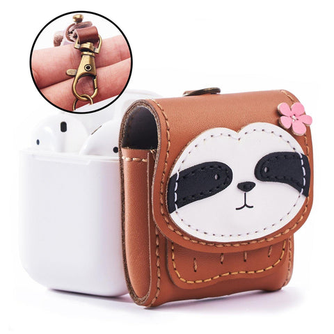 Sloth Leather Airpod Case - AP007