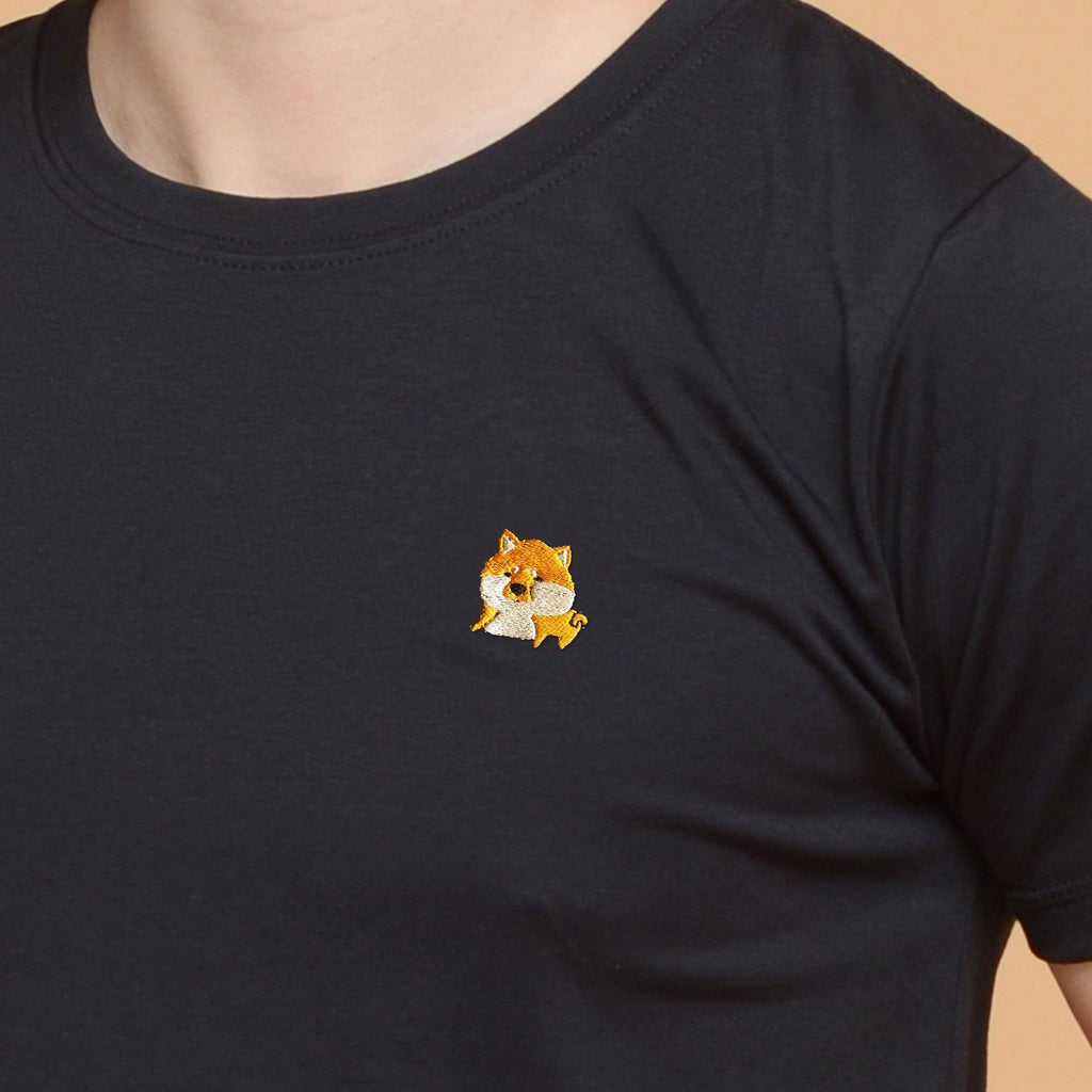 Shiba Inu Dog Embroidered T-Shirt