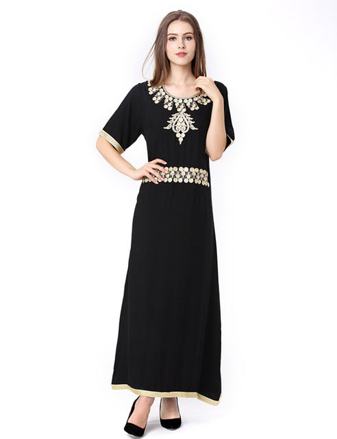 Black Elegant Evening Abaya