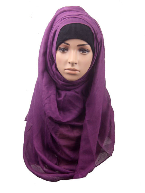 Purple Jersey Hijab