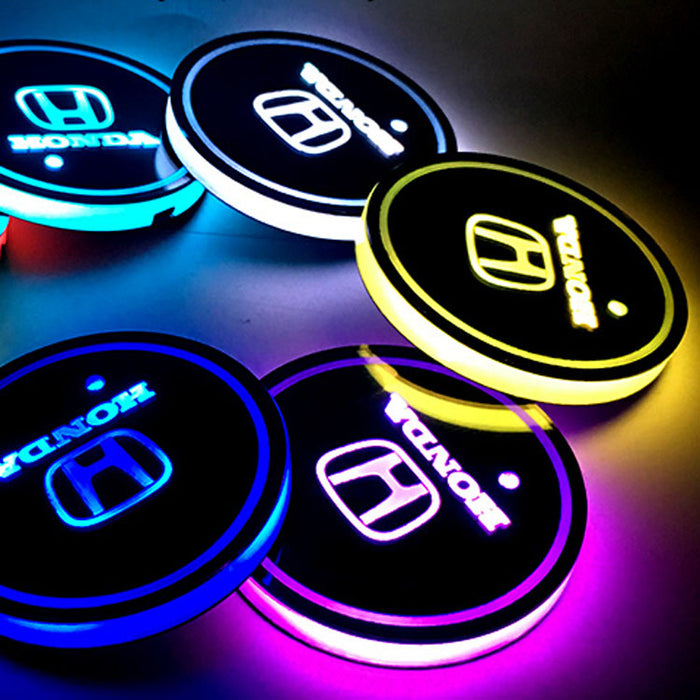 2 Pcs Honda Smart LED Luminous Coaster