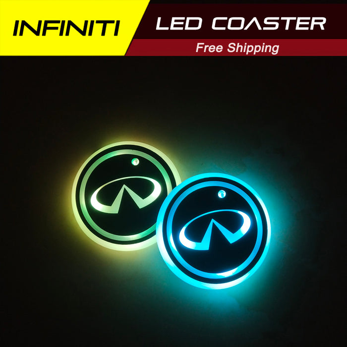 2 Pcs Infiniti Smart LED Coaster