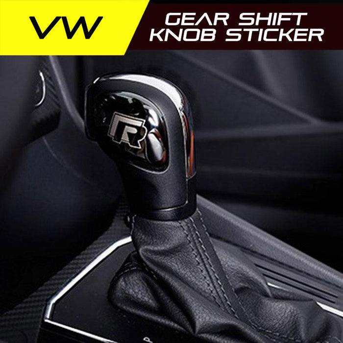 Volkswagen gear shift knob sticker