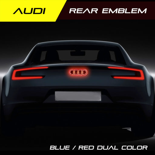 Audi LED Car Auto Illuminated Rear Badge with Dual Light Color