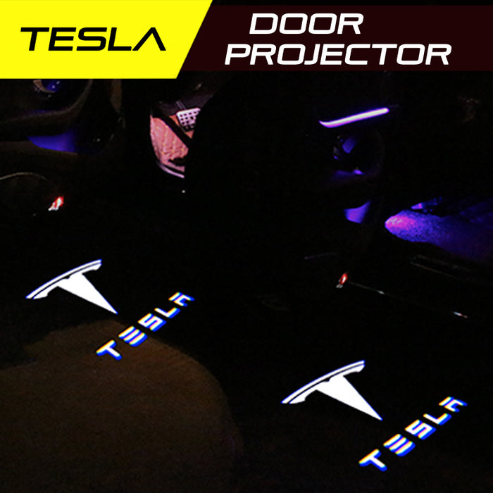 LED Door Projector Welcome Lights for Tesla