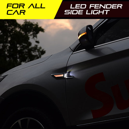 Blade Steering Light Fender Side Marker Light Car LED Turn Signal Lamp