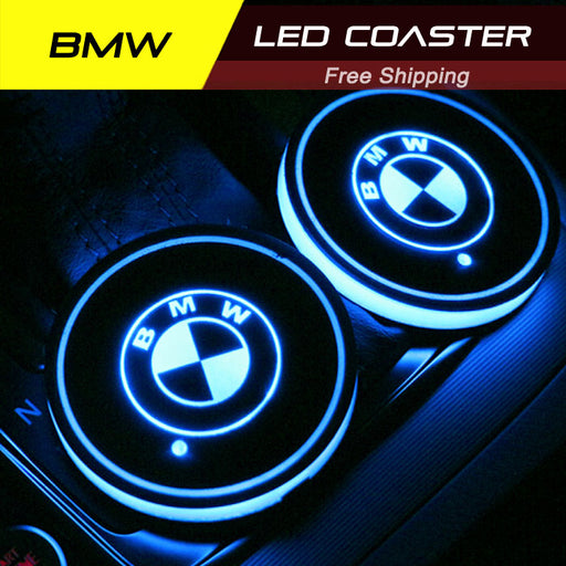2 Pcs BMW Smart LED Luminous Coaster