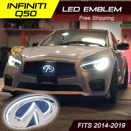 2014-2019 Infiniti Q50S Q50L LED Radiant Emblem front grille badge light