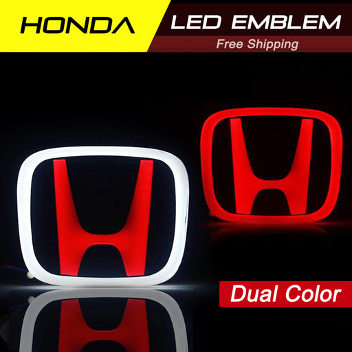 Honda LED JDM Red Emblem Type-R for Civic X / Accord / CRV with Dual Color options
