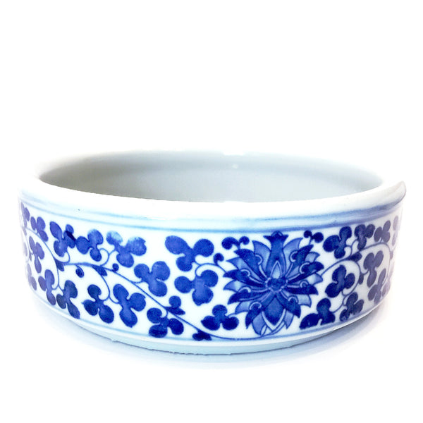 Blue & White Floral Painting Round Porcelain Bowl