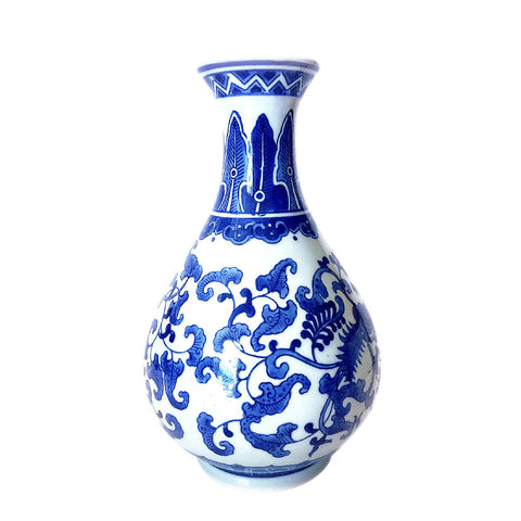 Blue & White Chinese Pattern Painting Porcelain Vase