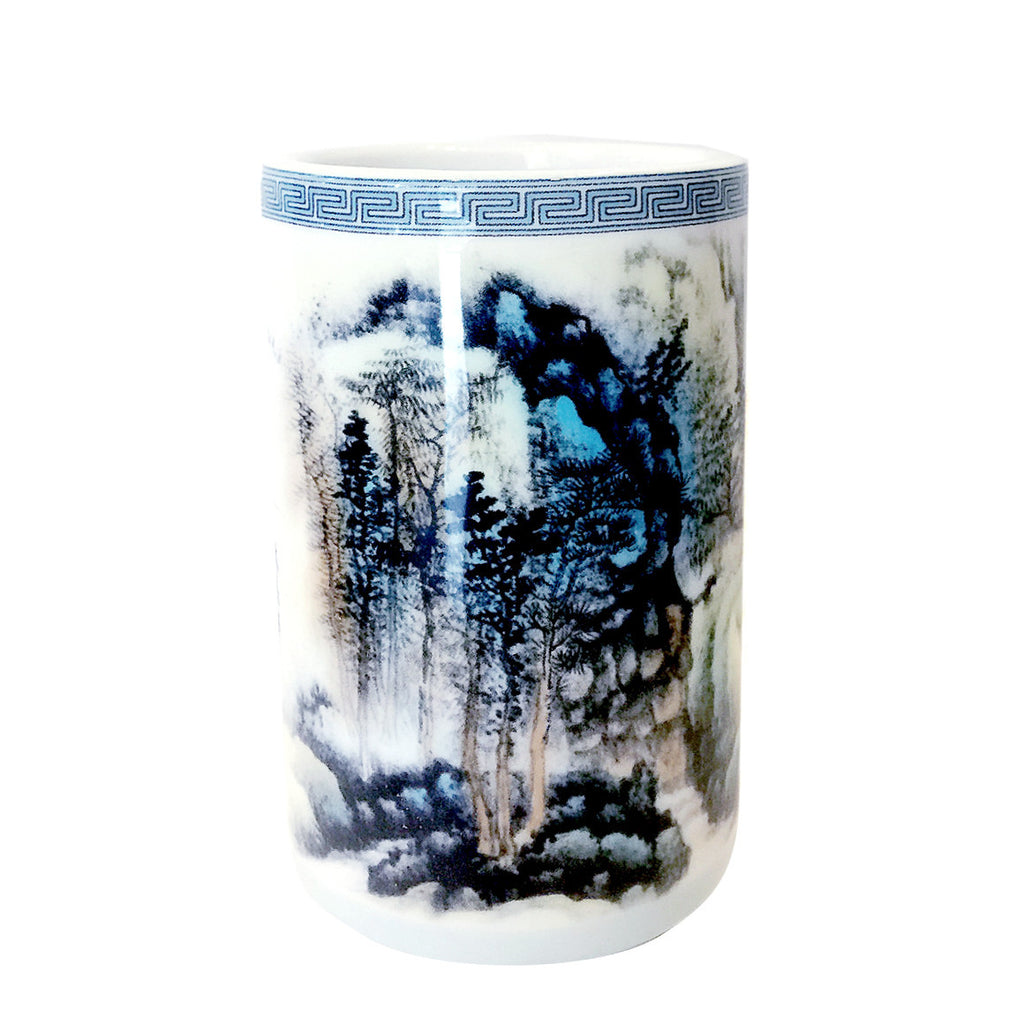 Chinese Painting Porcelain Chopstick Container
