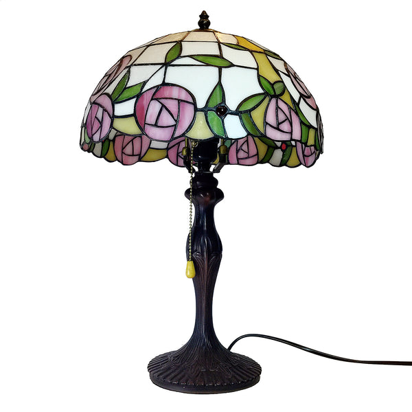 Vintage Table Top Glass Shade Lamps