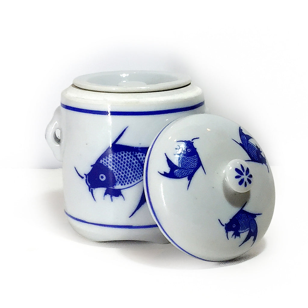 Blue & White Porcelain Soup Container