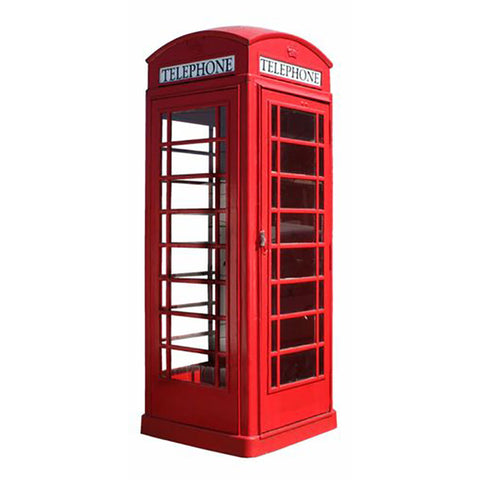 Lifelike Red London Telephone Booth