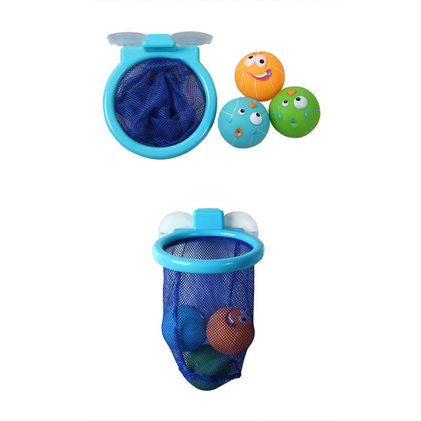 Educational 3 Balls Colorful Basketball Bath Toy – PitterPatter