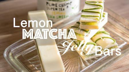 Lemon Matcha Jelly Bars