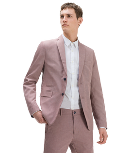 Textured suit Breast pocket Classic button fastening