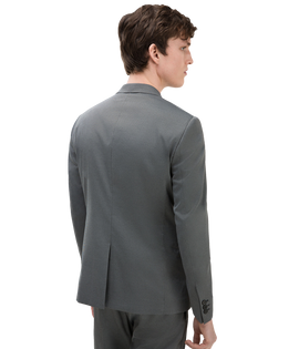 Textured suit Chest pocket Classic button fastening