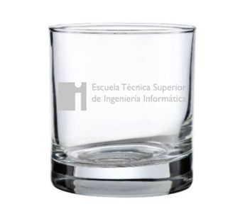 Vaso de whisky personalizable