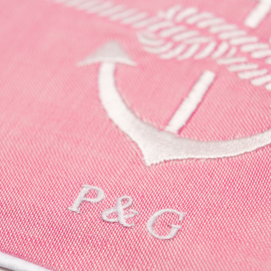 Personalised embroidered bib by Poppie & George