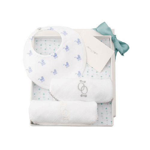 Bib Gift Set - Repeat Pram Poppie & George