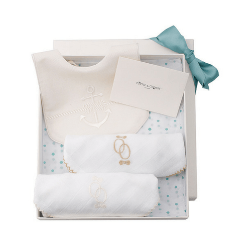 Bib Gift Set - Rope & Anchor Poppie & George