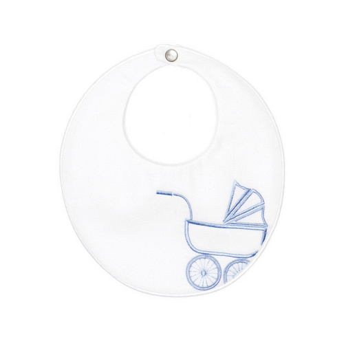 Blue Vintage Pram Bib Poppie and George