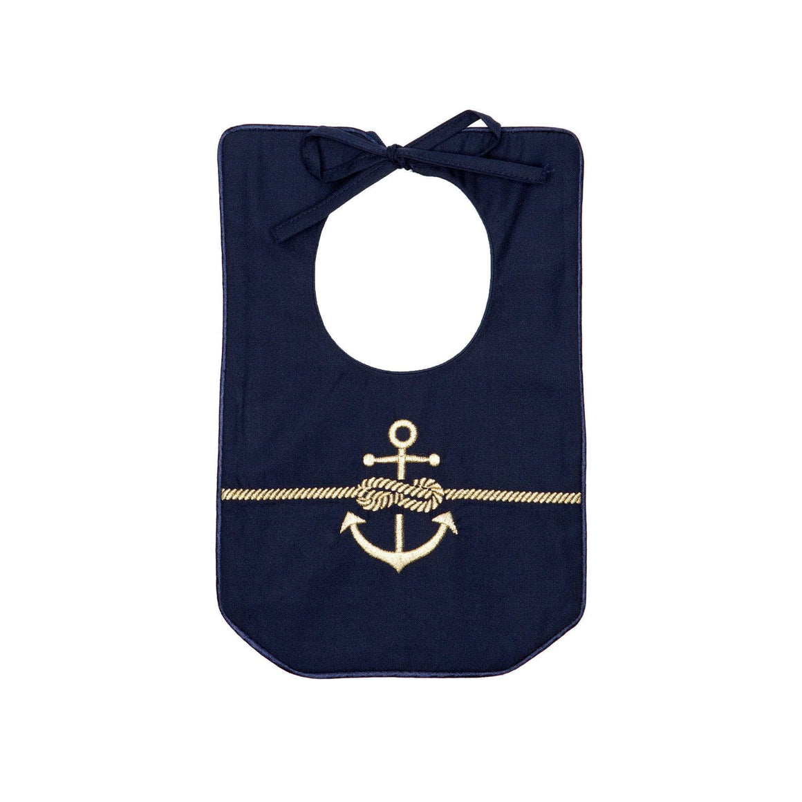 Gold Rope & Anchor Bib Poppie and George