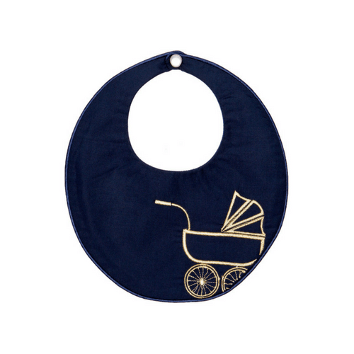 Gold Vintage Pram Bib Poppie and George